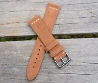 18mm Genuine Leather Watch Band Strap Suede Handmade fits ALL BRANDS Rolex Tudor