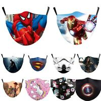 Kids Boy Girl Face Mask Washable Reusable Adjustable Double Layer Spider-Man UK