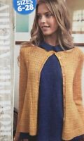 KNITTING PATTERN Ladies Lace Cardigan Bodice Stitch Long Sleeve Buttons 4 ply