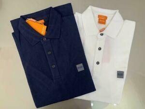 2 pics Men's short sleeve Hugo Boss Polo slim fit size Large 100% Genuine