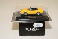 V 1:64 99 KYOSHO MINICAR COLLECTION FIAT LANCIA FIAT DINO SPIDER YELLOW MIB