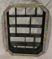 """Mirrored Wall Hanging Knick Knack/Collectible Display Case--Wood/Black--16""""x12"""""""