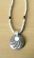 Halskette   Resin * Shivaauge * gedrehte Perlenstrings Naturschmuck 5,3 cm