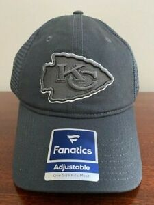 Kansas City Chiefs Fanatics Adult One Size Adjustable Embroidered Cap NEW