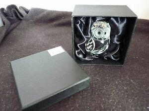 CLASSIC CRYSTAL DESIGN OWL STATUE 7CM TALL IN SATIN FABRIC GIFT BOX NEW