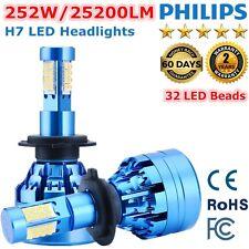 2 XH7 252W 25200LM PHILIPS LED Headlight Kit Single Beam Bulb White 6000K BU