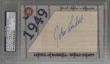 JOHNNY LINDELL 2018 HISTORIC AUTOGRAPHS HA CAPITOL OF BASEBALL CUT AUTO SIGNED
