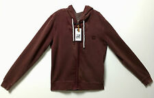 Blomer Heritage Medium 100% Cotton Burgundy Men Winter Warm Zip Up Hoodie Jacket