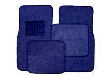 Front & Rear Carpet Car and Truck Floor Mats 4pc Set  - Dark Blue
