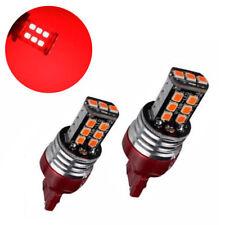 2X Red T20 7440 15-SMD LED Car Turn Signal Light Single Filament Tail Light Bulb
