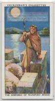 The Shepherd of Wansford Bridge Lincolnshire England 1930s Trade Card