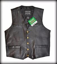 "Gilet Jacket en Cuir "" Simple Modèle "" - Mixte Taille S  Bikers country"