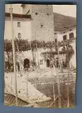 Italie, Tavernola (Lac d'Iseo), Débarcadère  Vintage citrate print. Vintage