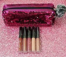BH Cosmetics Lipstick Liquid Linen Set Royal Affair plus Bag 5 pieces  NIB