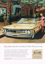 1960 PONTIAC  Bonneville Convertible Art Fitzpatrick Van Kauffman Vintage Ad