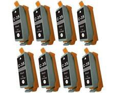 8 NON-OEM INK CARTRIDGE PGI-35BK BLACK FOR CANON PIXMA iP100l mini260 mini320