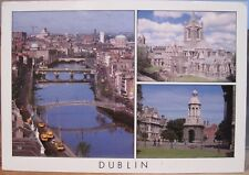 Irish Postcard DUBLIN Multiview Ireland Liffey Christchurch Zöller Insight SP272
