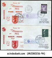 FRANCE / GERMANY - 1976 AIR FRANCE B727 PARIS to BERLIN to PARIS - FFC 2nos