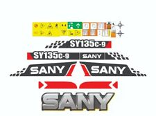 Sany SY135c-9 Excavator Decals / Adhesives / Stickers Complete Set