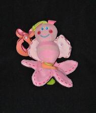 Peluche doudou abeille vibrante rose fleur PLAYGRO crochet de suspension TTBE