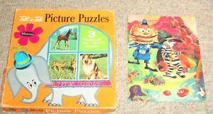 Vintage 1967 Whitman Tell-a Tale 3 picture puzzles & Mc Donald puzzle