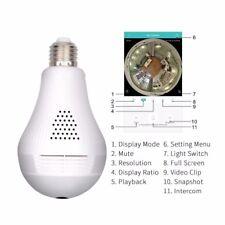 WIFI 360 LED bulb Hidden Panoramic Camera 1080P Home/Baby/ Front Door Intercom