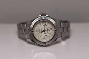 Breitling Colt II SuperQuartz Men's Watch Stratus Silver Dial COSC 41mm A74380