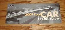 2001 Ford Passenger Car Exterior Colors Brochure 01 Mustang Thunderbird