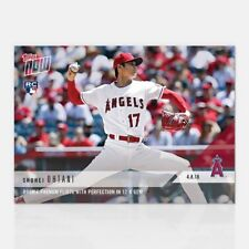 2018 TOPPS NOW #53: SHOHEI OHTANI RC FLIRTS WITH PERFECTION IN 12-K GEM