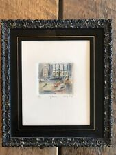"""Rare Miniature Painting By Betty Guy Subject """"my room""""."""