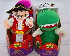 ~ Wiggles - DOROTHY & CAPTAIN SINGING PUPPET PLUSH DOLL TOYS