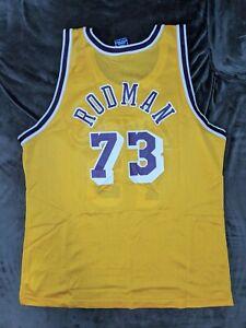 DENNIS RODMAN Los Angeles Lakers Champion Jersey 44 NBA Mavericks Bulls Kobe