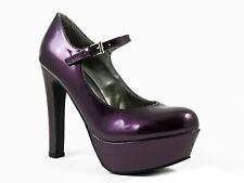 G by Guess Women's Varika Platform Heels Dark Purple Size 9.5 M