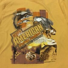 North American Fisherman 2003 Mobay Sportswear Mens Medium Yellow Gold T-Shirt