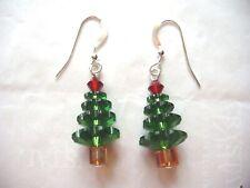 Pendientes de árbol de Navidad hecho con cristales de Swarovski Joyería De Vacaciones, envío gratuito