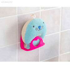 Suction Cup Kitchen Brush Sponge Soap Sink Draining Towel Rack Washing Holder