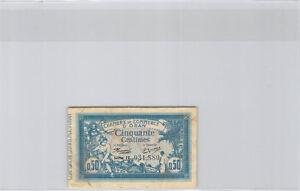 France - Oran 50 Centimes 10.11.1915 Série IV n° 931880 Pirot 19