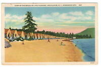 Postcard NY  Camp of the Woods Lake Pleasant Speculator Adirondacks Cabins