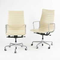 2011 Eames Herman Miller Executive Aluminum Group Desk Chair 41x Available Ivory