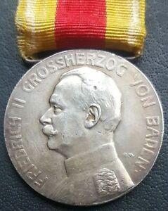 ✚9052✚ German WW1 Baden Silver Medal of Merit Silberne Verdienstmedaille