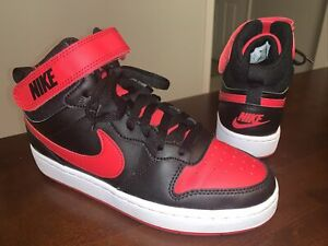 Boy's Nike Court Borough Mid 2 GS 'Bred' CD7782-003 - Size 5Y