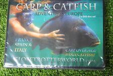 Carp & Catfish Adventures Europe fishing DVD's 2 Discs France Spain Italy 78lb