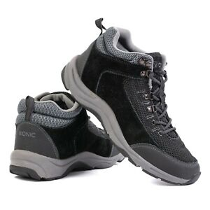Vionic 3105 Cypress Hiking Shoes Mid Ankle 9168 Black Suede Women's 8 EUR 39