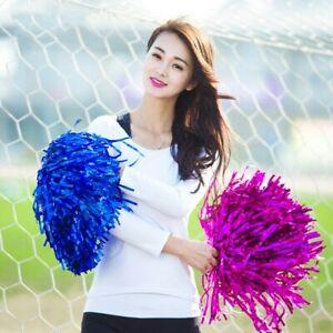2 Pz Cheerleader Pom Pom Palmare Accessori Mano Fiori con Anello