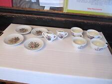 Vintage tea set cups plates creamer floral pattern Made in Japan