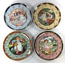 4 VTG Heinrich Villeroy & Boch Once Upon A Rhyme Decorative Plates Nursery Decor