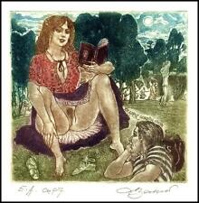 David Bekker 1998 Exlibris C4 Erotic Erotik Nude Nudo Woman Sex Book 676