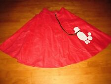 WOMENS GREASE PINK LADY LADIES 50'S POODLE SKIRT HALLOWEEN COSTUME SZ SMALL