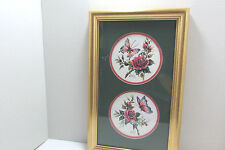 Frankie Buckley Gold Framed Matted Print Butterflies And Roses 9 x 15