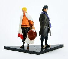 Naruto Movie The Last Uzumaki Sasuke Uchiha PVC Figure Anime Toy 16cm 2 pcs New